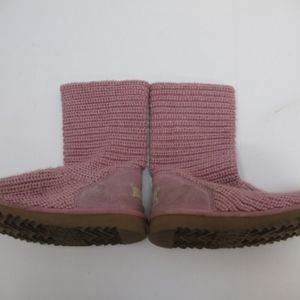 Pink Ugg Boots. Crochet, Size 13. For girls.